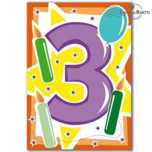 onnittelut 3-vuotiaalle