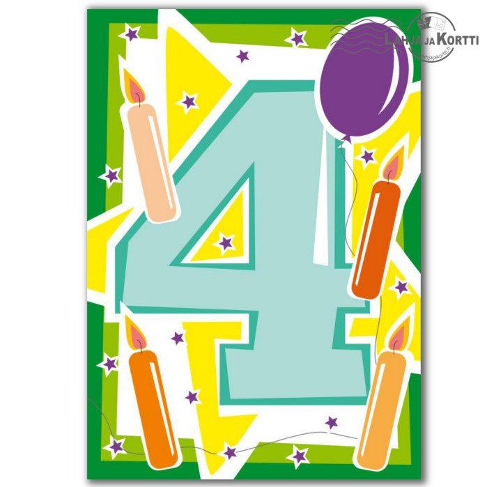 onnittelut 4-vuotiaalle