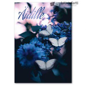 Äidille perhoset ja kukat
