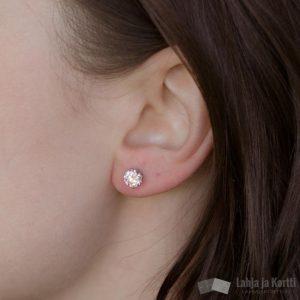 Hopea-Puro Kivi-korvakorut vaaleanpunainen