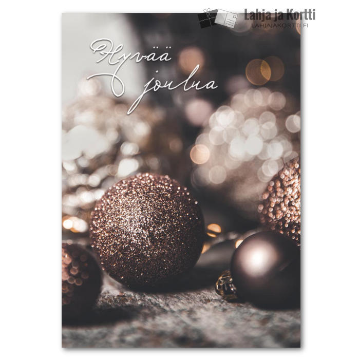 Hyvää joulua Joulun kimallusta