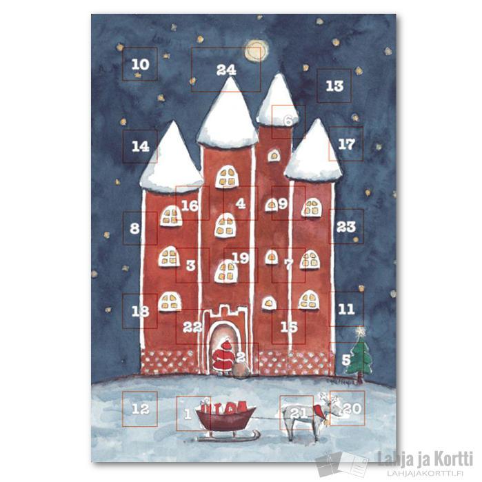 Joulukalenteri Kortti Piparilinna