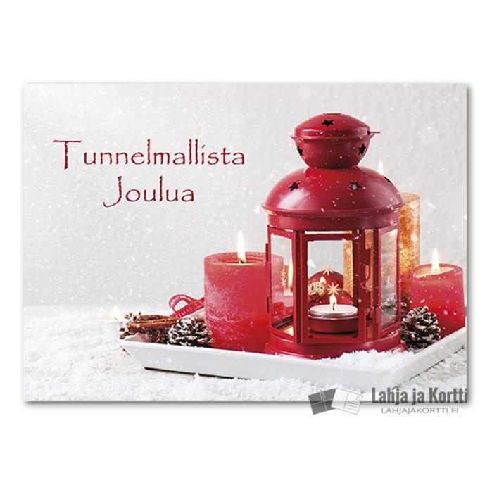Joulutunnelmaa Lyhty ja kynttilät