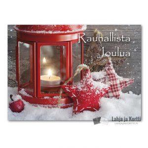 Joulutunnelmaa Lyhty ja tähdet