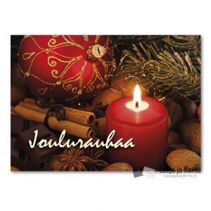 Joulutunnelma Punainen kynttilä