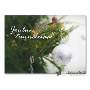 Joulutunnelmaa Valkoinen joulupallo