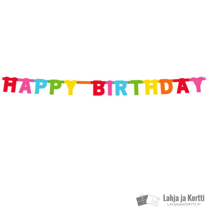 Kirjainnauha Happy birthday