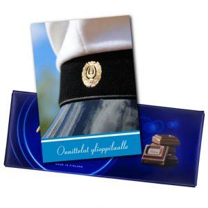 Kortti ja suklaata ylioppilaalle