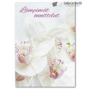Lämpimät onnittelut Orkideat