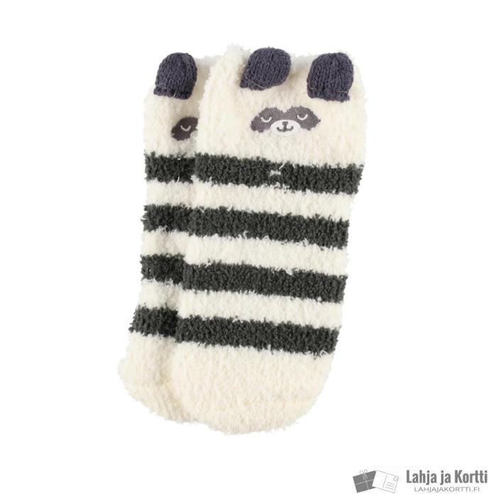 Lasten sukat lahjapakkauksessa pesukarhu