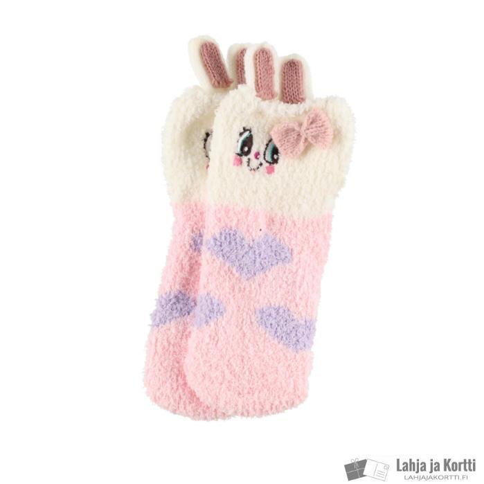 Lasten sukat lahjapakkauksessa pupu