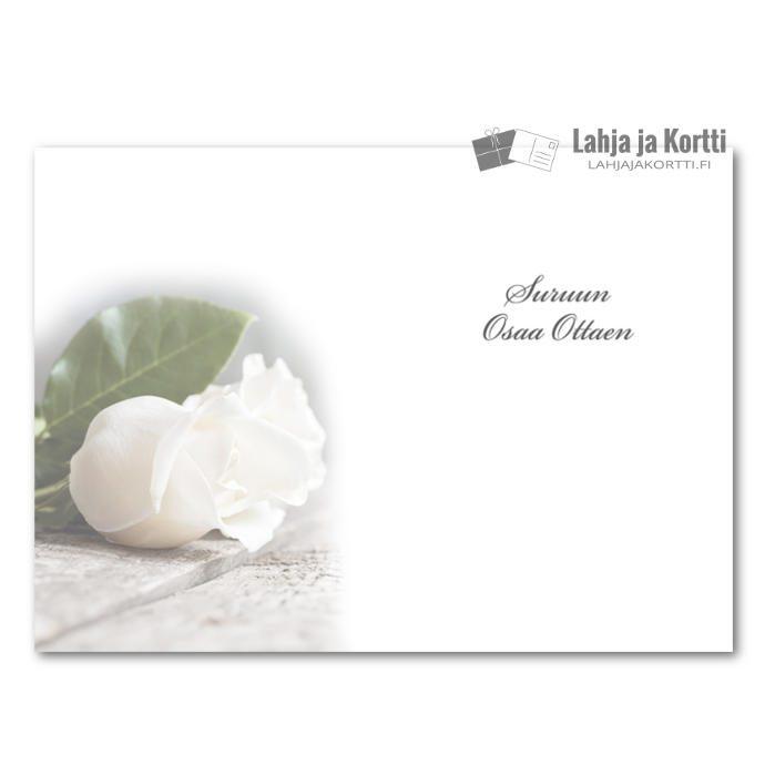 Muistoa kunnioittaen valkoinen ruusu