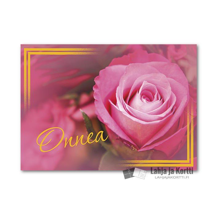 Onnea Pinkki ruusu