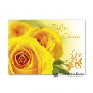 Paljon onnea Keltainen ruusu