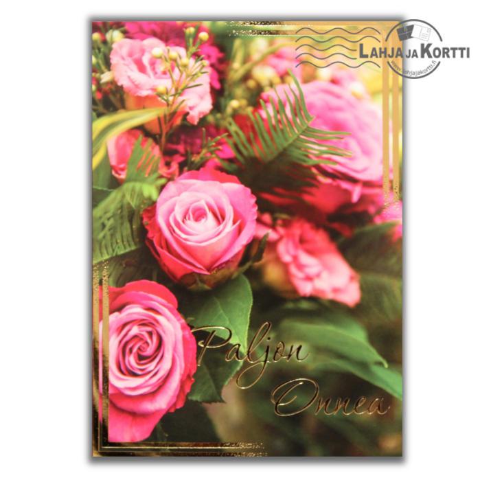 Paljon Onnea pinkit ruusut