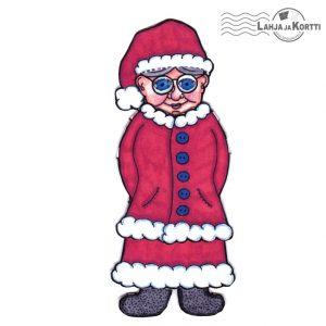 Paperinukkekortti - Joulumuori