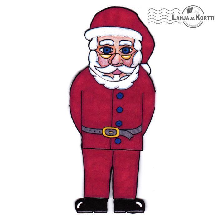 Paperinukkekortti - Joulupukki