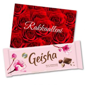 Rakkaalle - Kortti ja suklaalevy