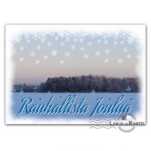 Rauhallista joulua talvimaisemassa