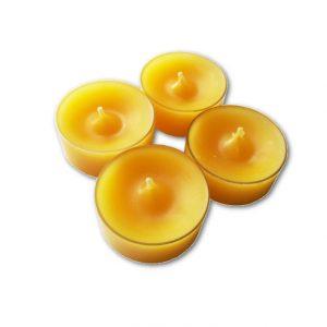 Tuikkukynttilä keltainen 4 kpl