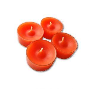 Tuikkukynttilä oranssi 4 kpl