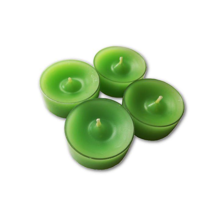 Tuikkukynttilä vaaleanvihreä 4 kpl