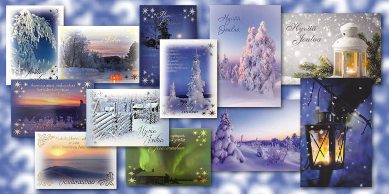 Uusia joulukortteja
