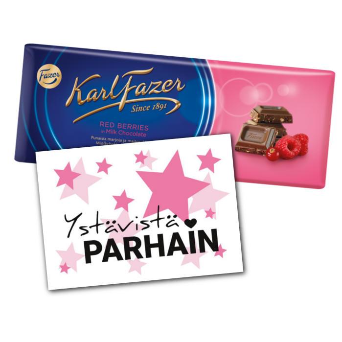 Ystävistä parhaimmalle suklaata